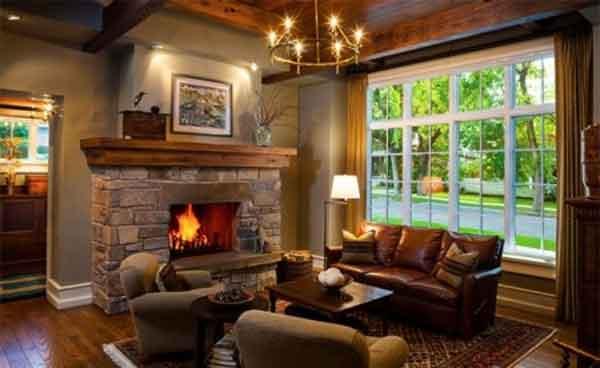 Пример проекта и дизайна освещения гостиной в частном доме