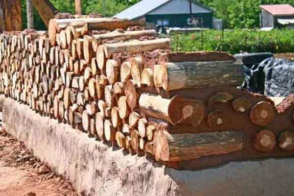 Пример кладки безугловых столбов