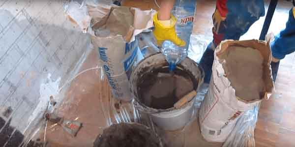 Подготовка материалов для отделочных работ