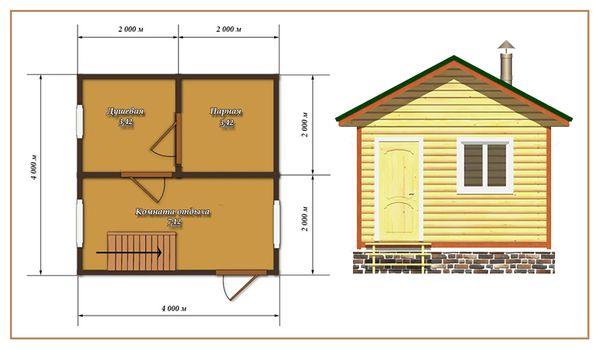Составление плана постройки бани
