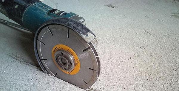 Обыкновенная болгарка с алмазными дисками по бетону