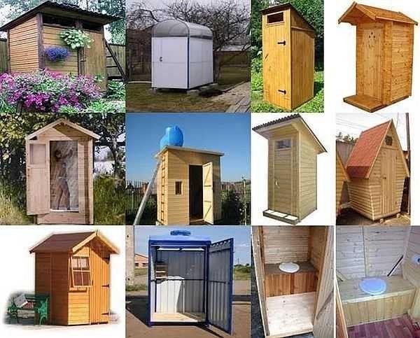Дачные туалеты бывают разного дизайна