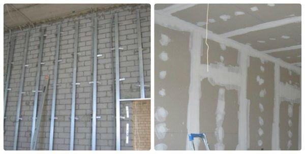 Выравнивание стен с помощью гипсокартона