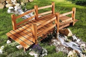 Декоративный садовый мостик – это просто