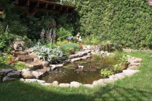 Бетонный декоративный пруд – просто и быстро